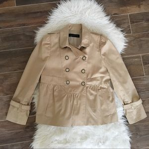 Zara Cropped Trench Coat Jacket